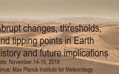 Workshop: Abrupt changes, thresholds, and tipping points in Earth history and future implications